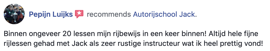 facebook review autorijles